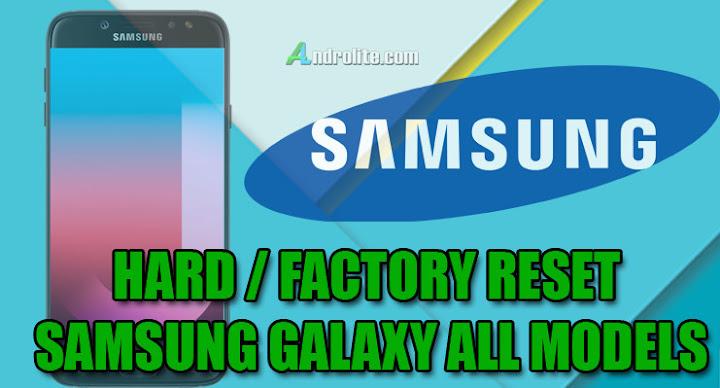 Cara Mudah Hard / Factory Reset HP Android Samsung