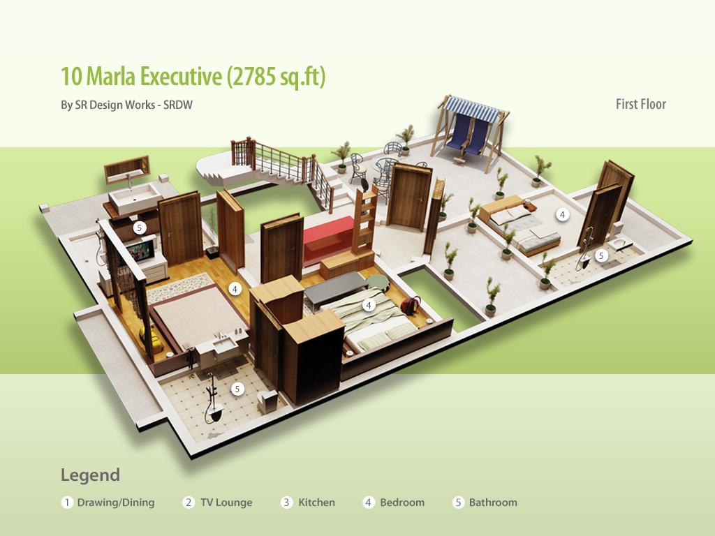 Civil Engineer Muhammad Aneeb 10 Marla House Designs