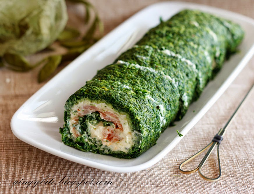 Spinach Roulade with Smoked Salmon 菠菜熏三文鱼肉卷