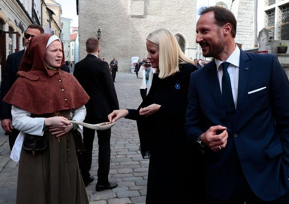 Crown Prince Haakon and Crown Princess Mette-Marit visited Telliskivi Creative City. Old Town of Tallinn which is in UNESCO cultural heritage list