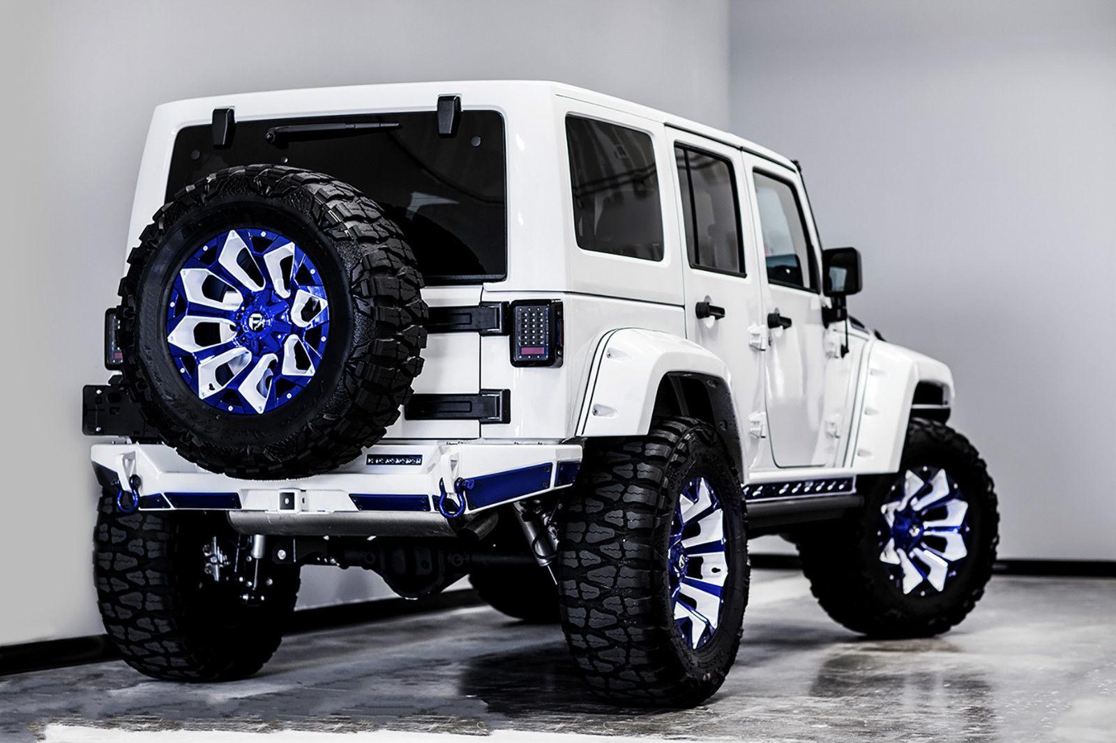 este jeep wrangler preparado por voltron motors se vende en ebay