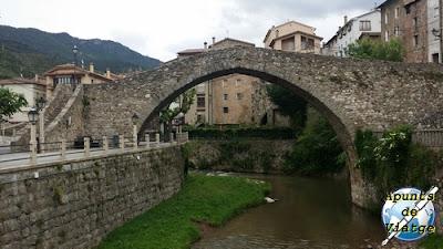 Pont Vell en La Pobla de Lillet