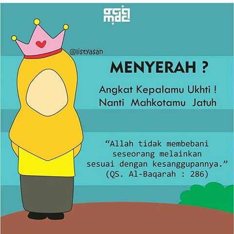 Download Gambar DP Kartun Hijab Muslimah Kata-kata Bijak Islami Gratis