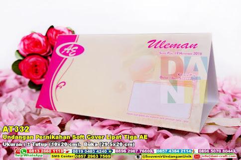 Undangan Pernikahan Soft Cover Lipat Tiga AE