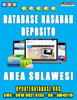Jual Database Nasabah Deposito Sulawesi