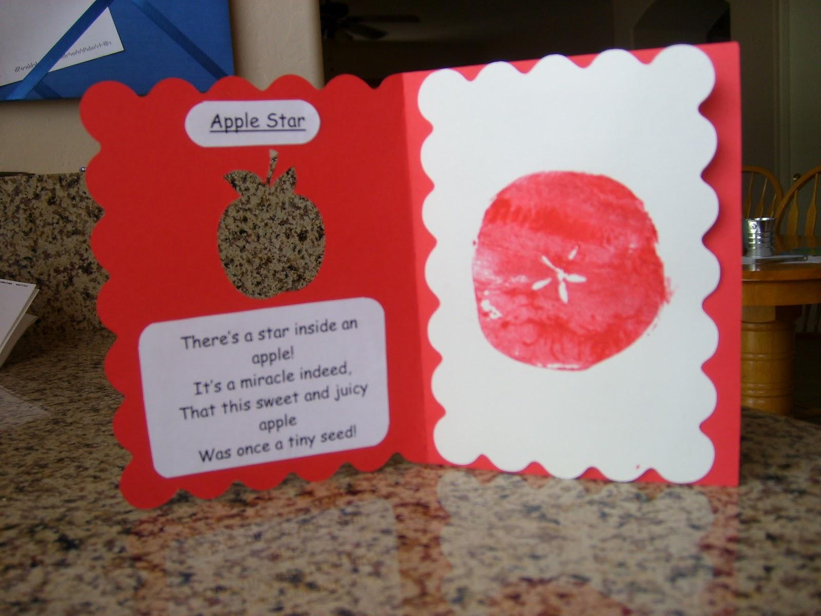 Chipman S Corner Preschool Apple Star Amp Poem