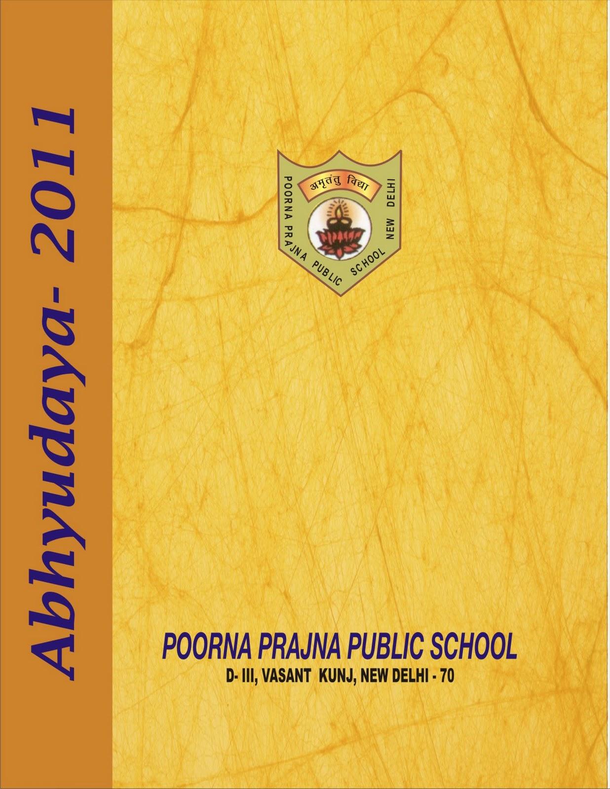 2011 School Magazine Covers Page | Mukesh Kumar Thakur