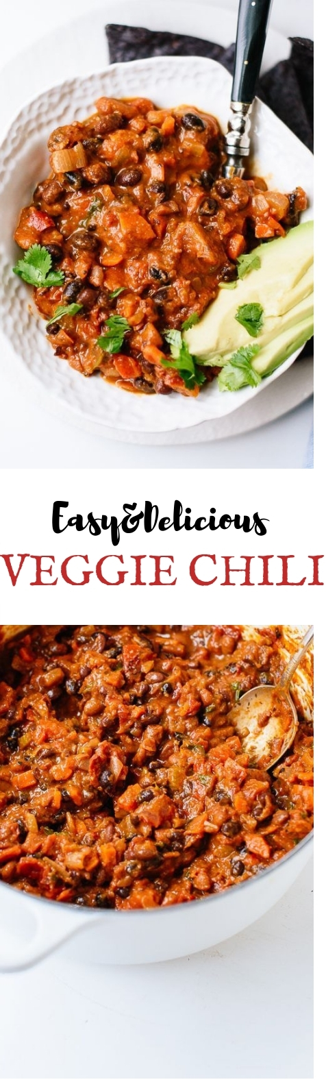 Homemade Vegetarian Chili #Spicy #veganmeal