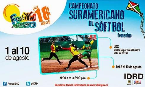 Softbol en el  Festival de Verano de Bogotá 2014