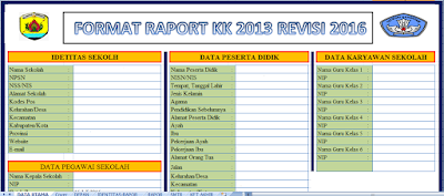 Raport Kurikulum 2013 SD/MI Edisi Revisi 2016 Plus Petunjuk Pengisian - Galeri Guru