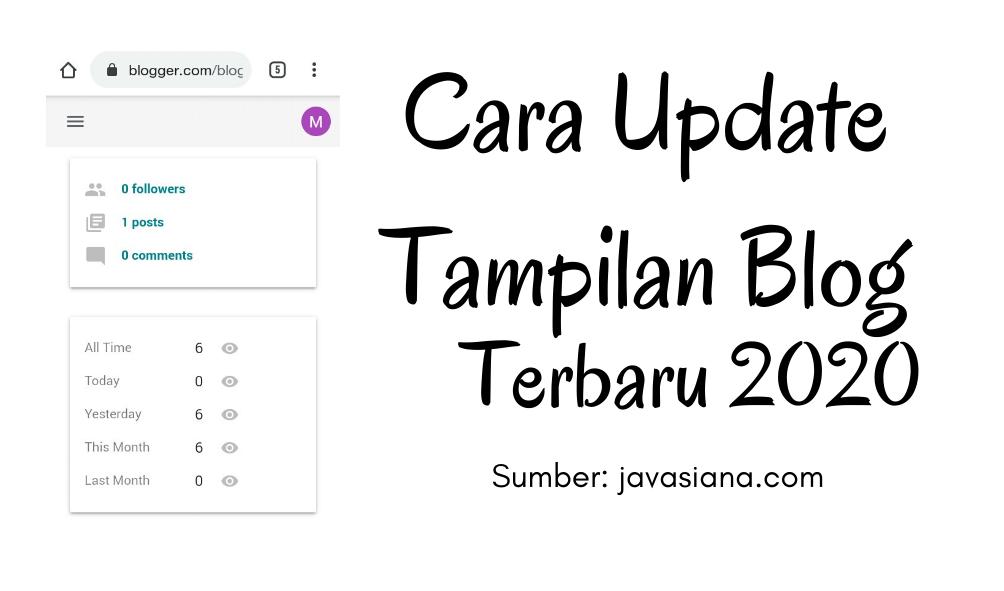Cara Update Tampil Blogger Ke Versi Terbaru