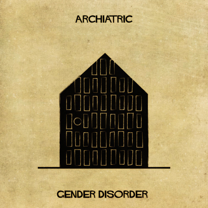 16 Mental Disorders Illustrated Through Architecture - Gender Disorder