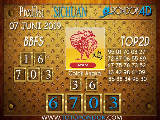 Prediksi Togel SICHUAN PONDOK4D 07 JUNI 2019