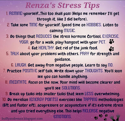 Renza's stress reducing tips