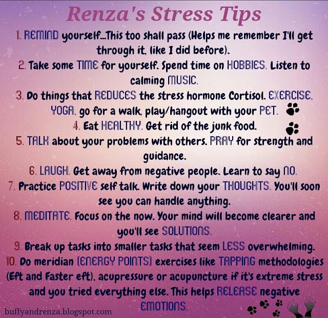 Renza's stress tips