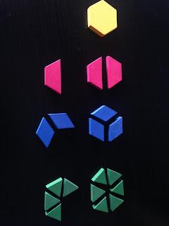 Fracciones con los bloques geométricos