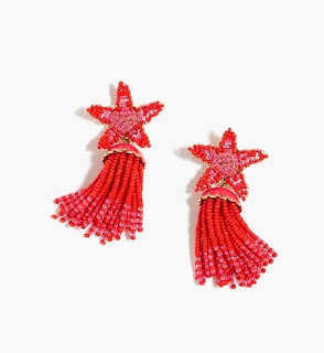 Make a splash in these statement earrings - Beaded Star Tassel Earrings - J Crew - Jewellery Summer Holiday