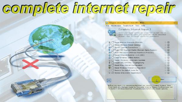 تحميل وشرح برنامج complete internet repair 3 لحل مشاكل الأنترنت على الكمبيوتر
