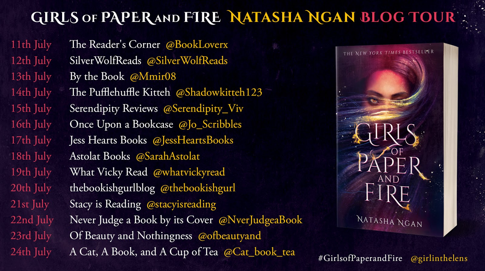 Girls of Paper and Fire by Natasha Ngan Paperback Blog Tour Banner
