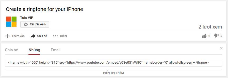 Video youtube tự động chạy khi nhúng vào web/blog