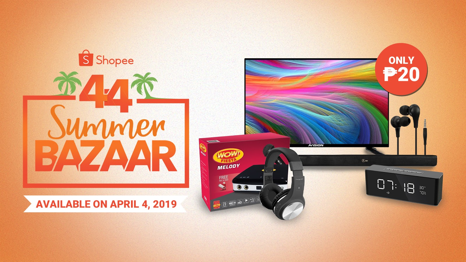 20faf1424719b Shopee, is dropping prices to as low as ₱20 for some amazing products on  the online shopping platform on today's Shopee 4.4 Summer Bazaar.