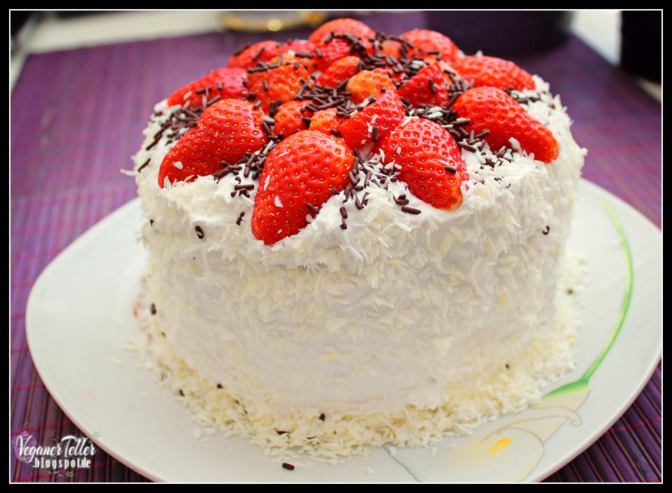 Erdbeer Schoko Mini Torte Vegan