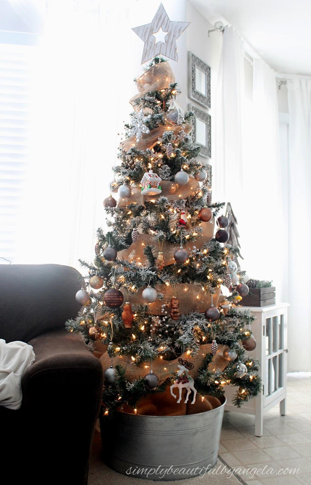 DIY Flocked Christmas Tree   Simply Beautiful By Angela