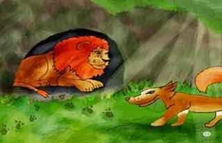 El perro que perseguia al león