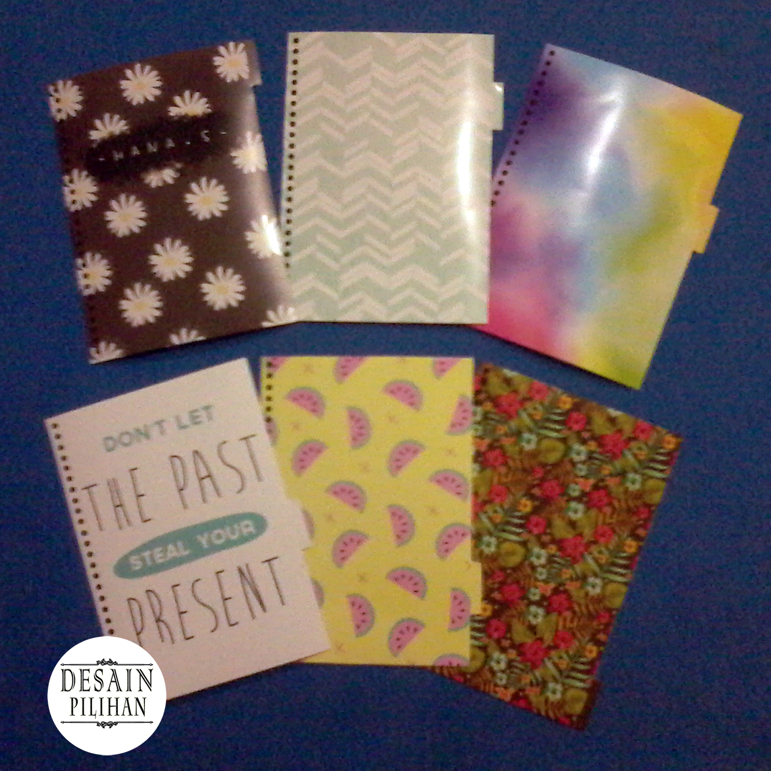 PEMBATAS BINDER FLOWERS, FRUITS, QUOTE, COLOR, MIX