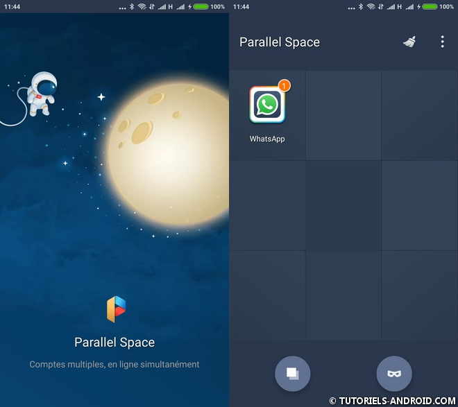 Parallel Space Multi-Comptes Android