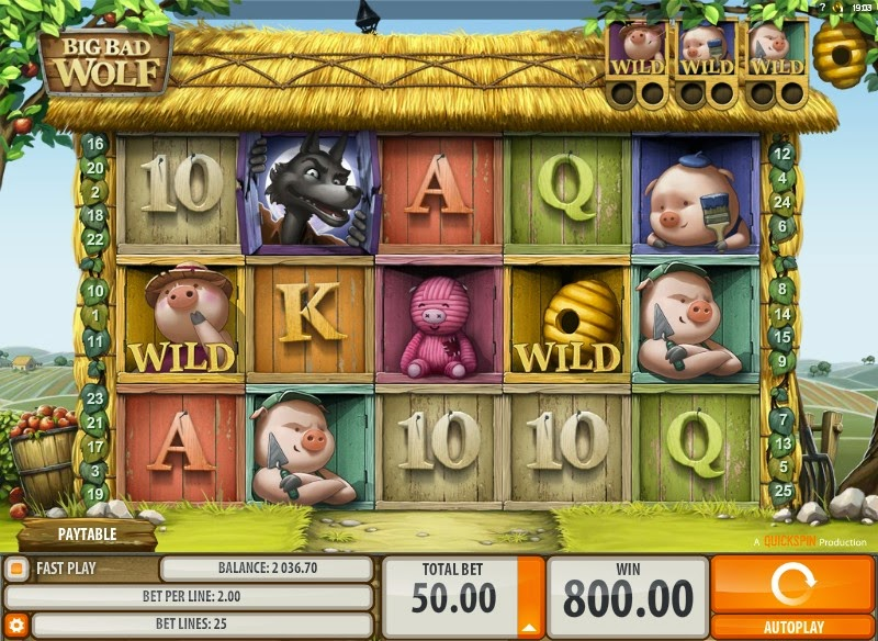 Big Bad Wolf Video Slot Screen