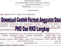 Download Contoh Format Anggaran Dasar PKG Dan KKG Lengkap