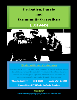 Probation, Parole and Community Corrections (JUST A445) flyer