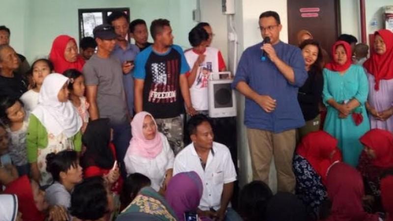 Anies Baswedan bertemu warga Rusun Rawa Bebek