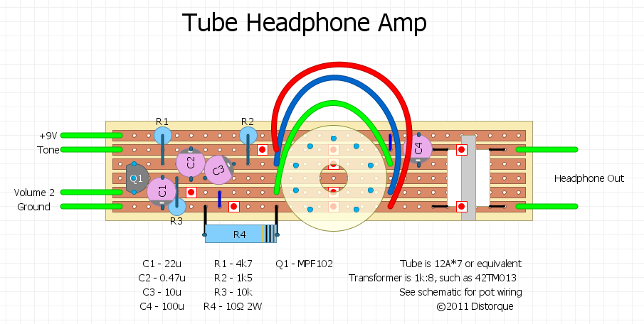 stompboxed the guitar pedal builders repository 12ax7 tube headphone amp. Black Bedroom Furniture Sets. Home Design Ideas