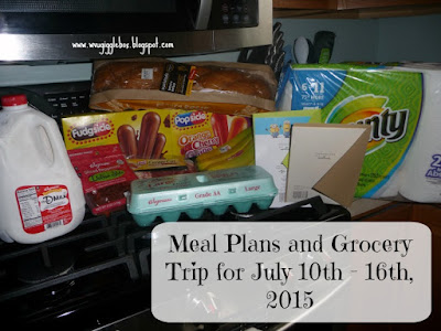 meal plans, $50 weekly grocery budget,
