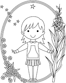 Skirted girl's style qaspeq or kuspuk to print and color- available in jpg and transparent png formats