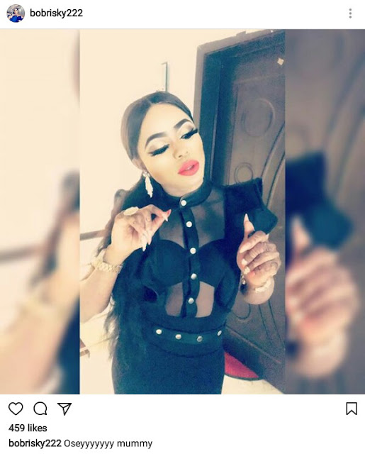 Bobrisky wears bra under a sheer top, tells haters to go kiss a snake