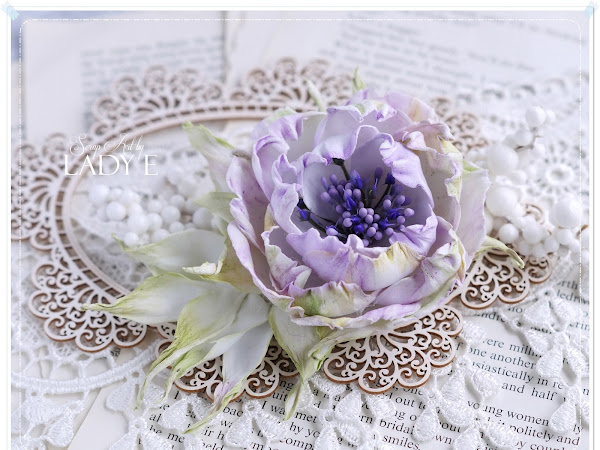 Silk Foam Shabby Chic Flower & Video Tutorial