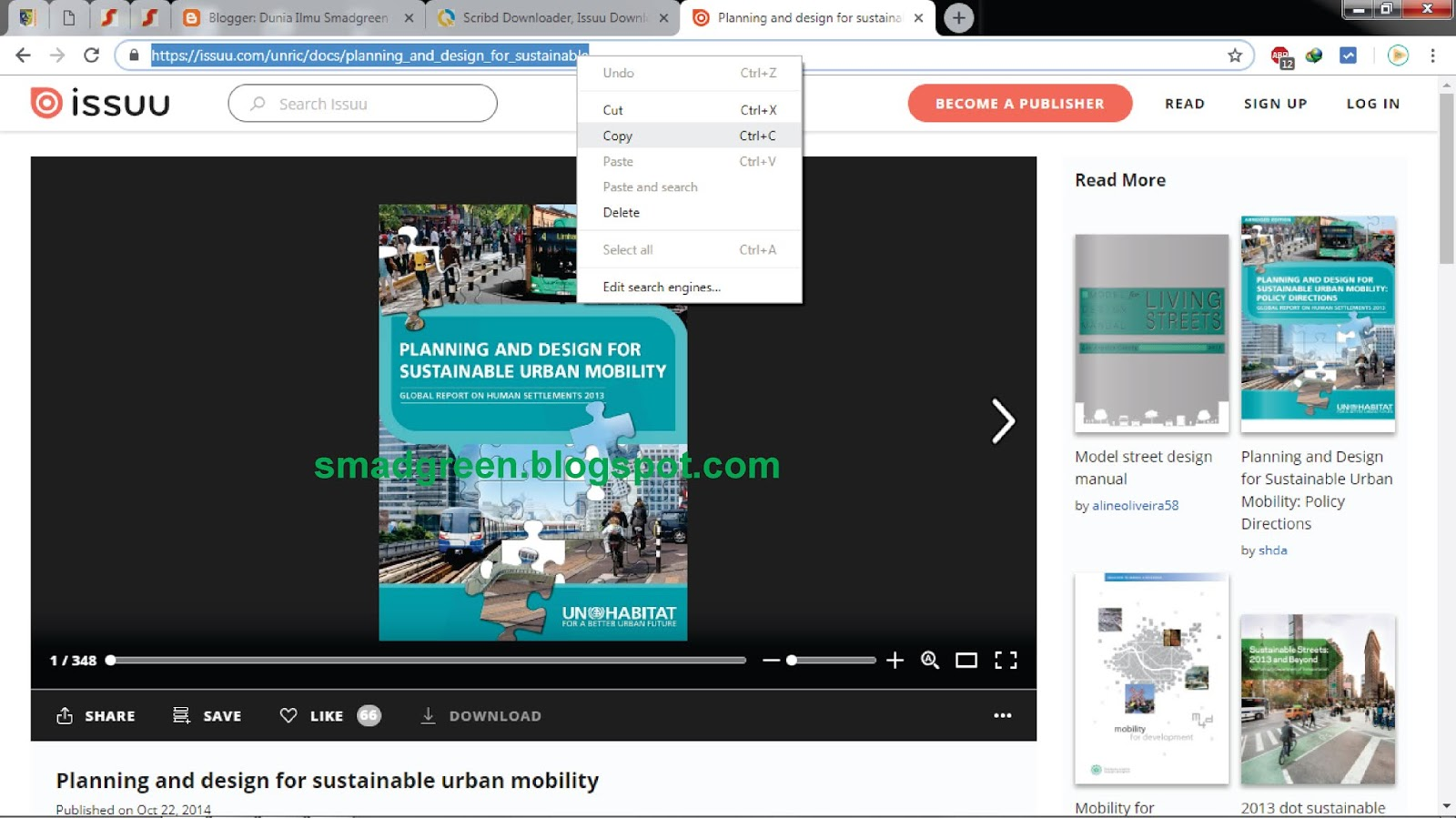 Cara Download File di Situs Scribd, ISSUU, Slideshare dan Academia