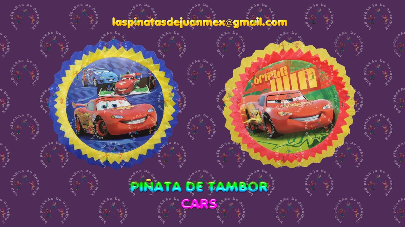 las pi u00d1atas de juanmex  pi u00f1atas de tambor de cars