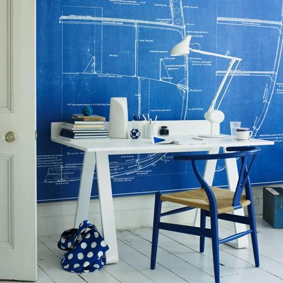 Home Office White Blue: Cómo Integrar Una Oficina En Casa