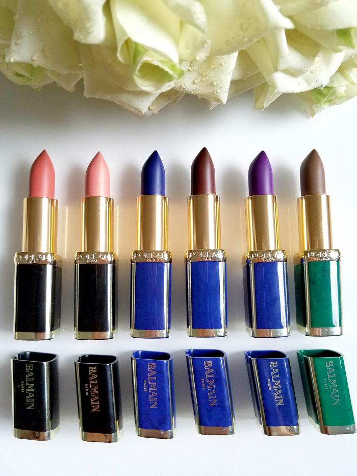 Review: L´Oréal Paris X Balmain Couture Lipstick Collection 246 Confession - 356 Confidence - 901 Rebellion - 650 Power - 467 Freedom - 648 Glamazone 2 madame keke