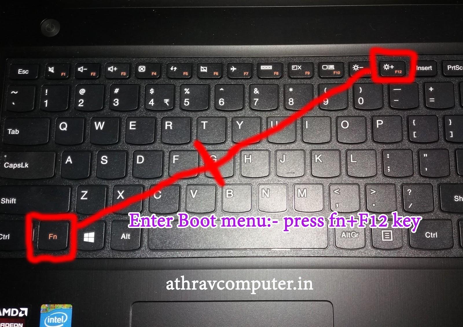 Lenovo Symbols On Laptop