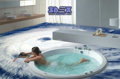 3d bathroom floor, 3d flooring mural, 3d bathroom tile