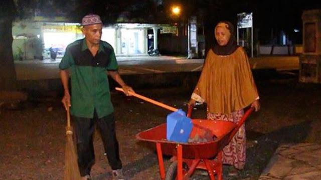 Sisihkan Gaji sebagai Cleaning Service selama 12 Tahun, Pasangan Suami Istri Naik Haji
