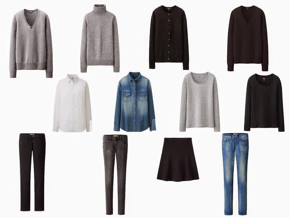 12 Piece Common French Capsule Wardrobe