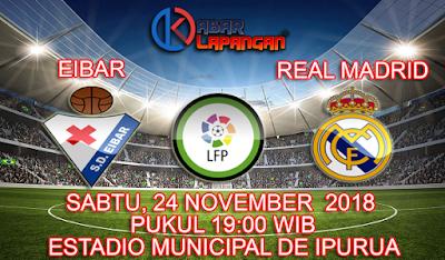 Prediksi Bola Eibar vs Real Madrid 24 November 2018