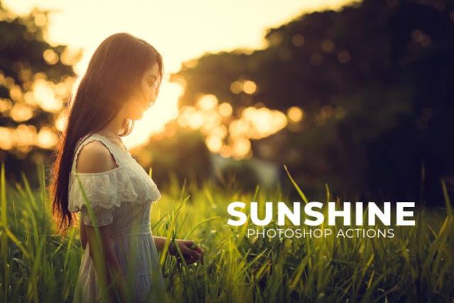تحميل 3 اكشن للفتوشوب للتأثير على الصور2018  3 Free Sunshine Photoshop Actions