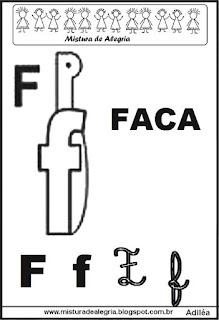 Alfabeto ilustrado letra F